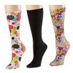 Celeste Stein 8-15 mmHg Queen Size Compression Socks (3 Pack Set)