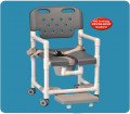 Elite Shower Chair Commode with Safety Belt and Slide Out Footrest