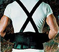 Sport Aid Back Belt With Suspenders