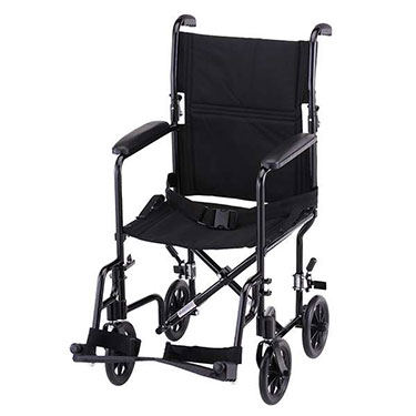 19 Inch Steel Transport Chair w/ Aluminum Footrests by Nova