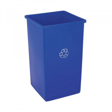 25-gal. Blue Stationary Recycling Container and Lid by Grainger