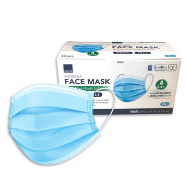 4 Ply Disposable Face Mask by Abena