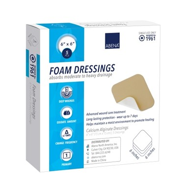 Abena Square Foam Dressing without Border