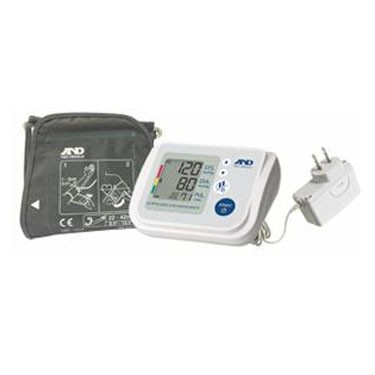 A&D Medical Upper Arm Automatic Blood Pressure Monitor with AD Adapter and AccuFit Plus Cuff