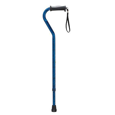 Adjustable Height Offset Cane with Gel Grip by Drive Medical
