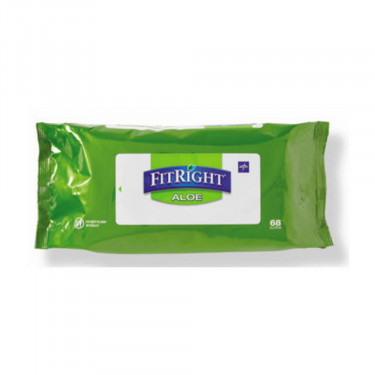 Fitright Aloe Quilted Personal Cleansing Wipes