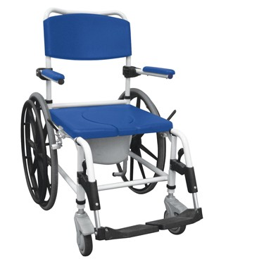 Aluminum Rehab Shower Commode Wheelchair by Drive Medical