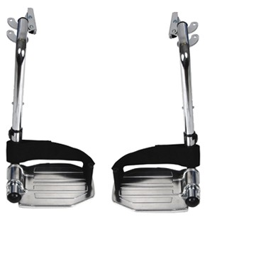 Chrome Swing Away Footrests with Aluminum Footplates by Drive Medical