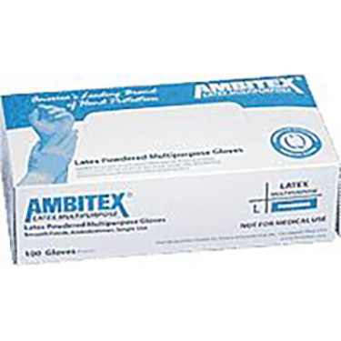 Ambitex Non-Sterile Powdered General Purpose Latex Glove