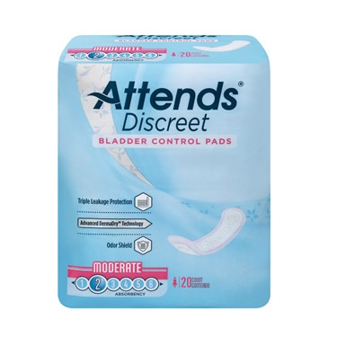Attends Discreet Bladder Control Pads