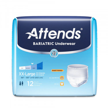 Attends Pull On Bariatric Adult Absorbent Underwear
