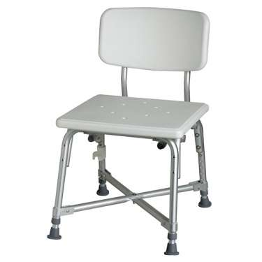 Bariatric Aluminum Bath Bench with Back by Medline
