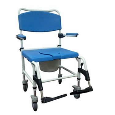 Bariatric Aluminum Rehab Shower Commode Chair by Drive