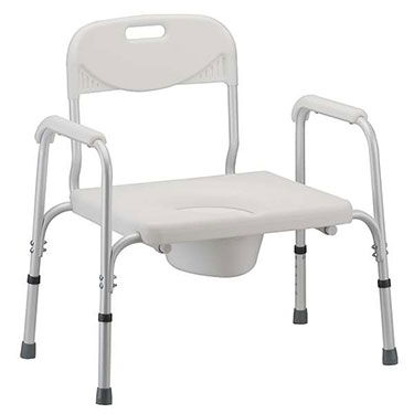Bariatric Commode with Back and Extra Wide Seat by Nova Ortho