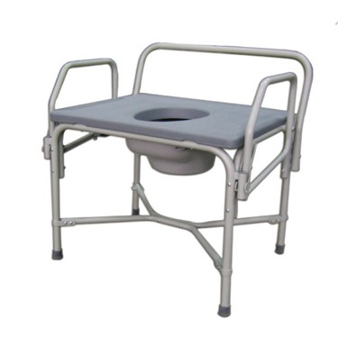Bariatric Drop-Arm Commode by Medline