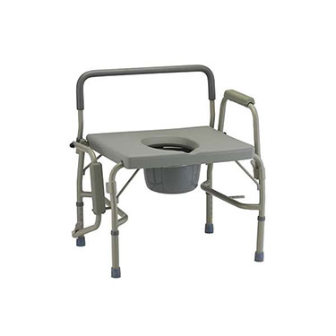 Bariatric Drop-Arm Commode with Wide Seat by Nova Ortho