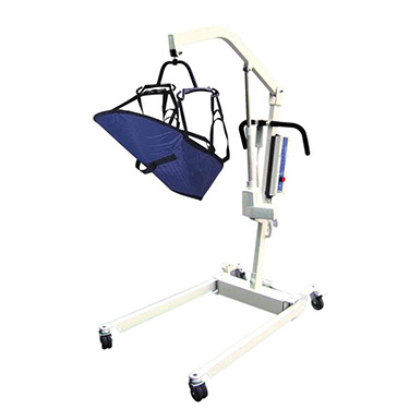 Bariatric Electric Patient Lift with Rechargeable Battery and Six Point Cradle