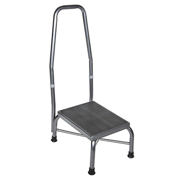 Bariatric Footstool with Handrail and Non Skid Rubber Platform