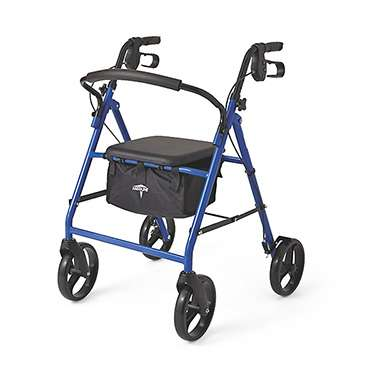 Medline Height Adjustable Rollator with 8