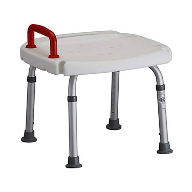 Bath Bench with Red Safety Handle by Nova