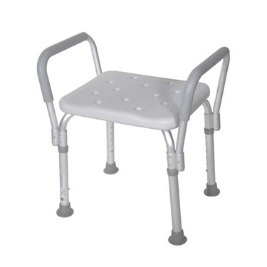 Shower Bench with Removable Padded Arms by Drive Medical