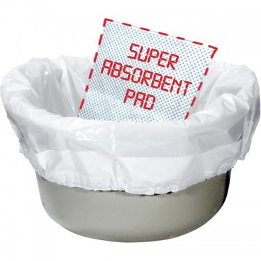 Biodegradable Sanitary Bag Commode Liner by Drive Medical