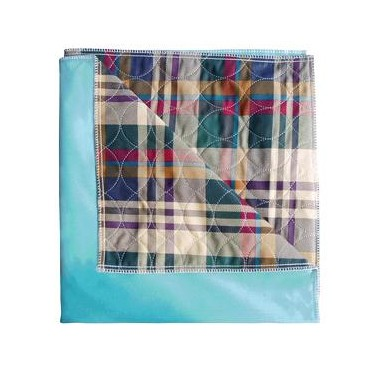 Cardinal Health Essentials Plaid Ibex Quilted Reusable Underpad