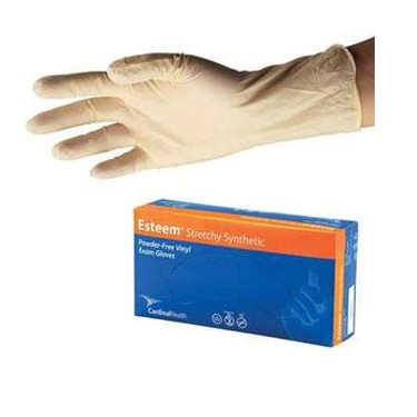 Cardinal Health Esteem Stretchy Synthetic Vinyl Examination Gloves