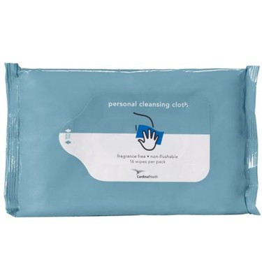 Cardinal Health Personal WashCloth, Unscented, Non-Flushable