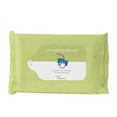 Cardinal Health Personal Washcloths, Scented, Non-Flushable