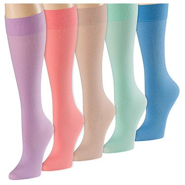 Celeste Stein 15-20 mmHg Regular Size Compression Socks (5 Pack Set)