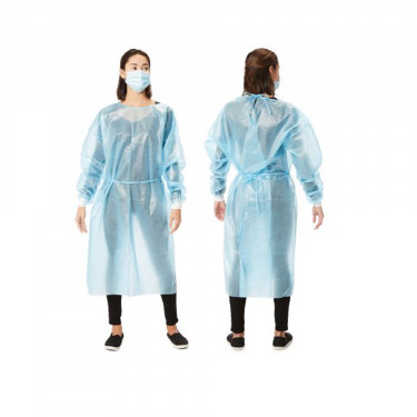 Cypress Open Back Protective Procedure Gown (Blue)