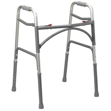Deep-Frame Two Button Bariatric Folding Walker