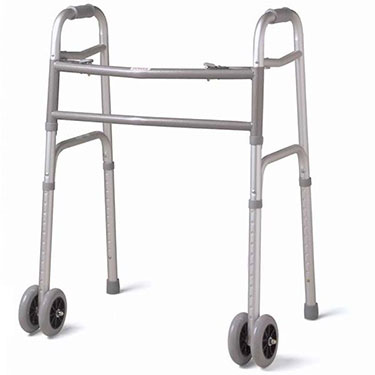Medline Deluxe Bariatric Walker with Wheels