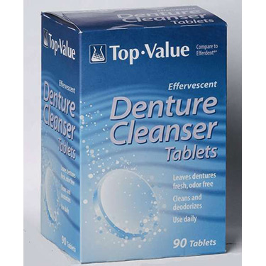 Effervescent Denture Cleanser Tablets