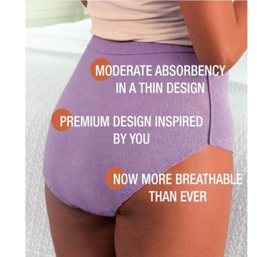 Depend Silhouette Active Fit Briefs for Women