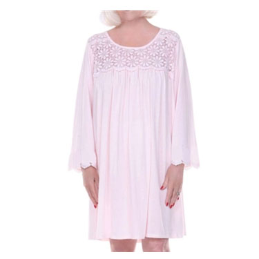 Dignity Pajamas Women's Cotton Patient Gown Long Sleeve Shirt