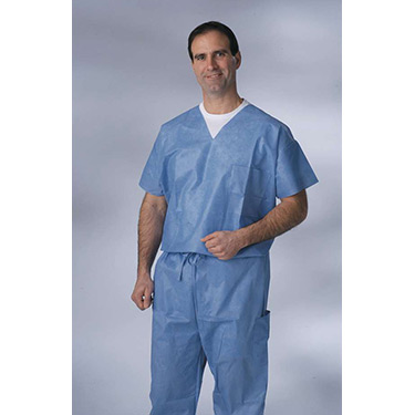 Disposable V-Neck Scrub Top