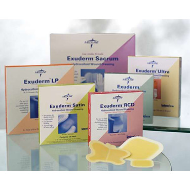 Exuderm Thin Hydrocolloid 4x4 Wound Dressings