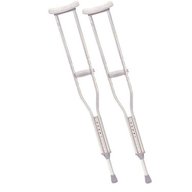 Drive Lightweight Walking Crutches with Underarm Pad and Handgrip