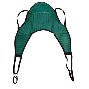 Drive Medical Padded Patient U Sling with Head Support - Floor Lift Accessory