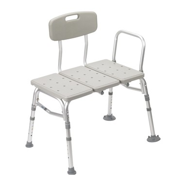 Drive Medical Three Piece Transfer Bench With Adjustable Backrest