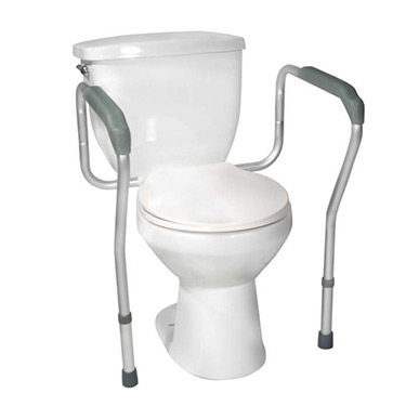 Drive Medical Toilet Safety Frame, Comfortable Waterfall Armrests