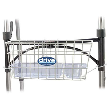 Drive Medical Walker Basket with Tray and Cup Holder