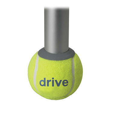 Drive Medical Walker Rear Tennis Ball Glides (Set of 2)  - Quiet, Smooth, Durable