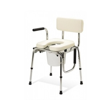 Padded Drop-Arm Commode with Splash Guard by Medline