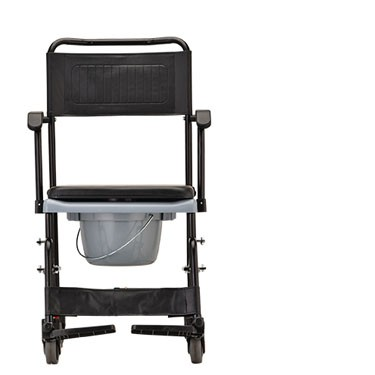Drop-Arm Commode Transport Chair with Wheels by Nova