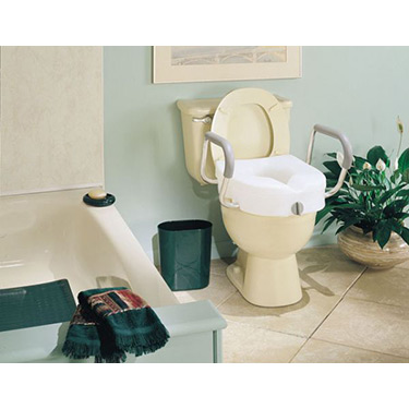E-Z Lock Raised Toilet Seat by Carex