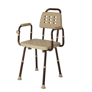 Elements Microban Shower Chair, with Back