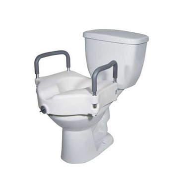 Elevated Toilet Seat with Removable Padded Arms